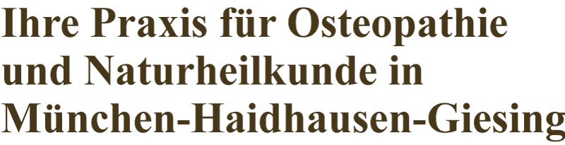 Ihre Osteopathie-Praxis in München